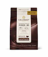 Шоколад горький Power80 Callebaut Бельгия 80% 2.5кг/упак